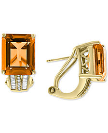 EFFY® Amethyst (7-3/4 ct. t.w.) & Diamond (1/6 ct. t.w.) in 14k Rose Gold (Also Available In Citrine and Green Quartz)