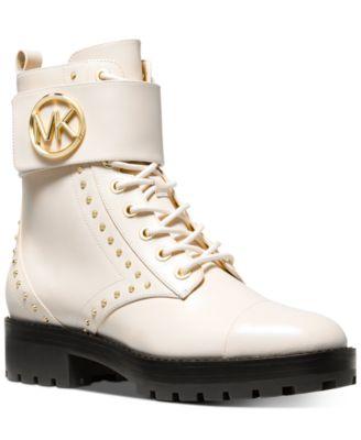 michael kors combat boots