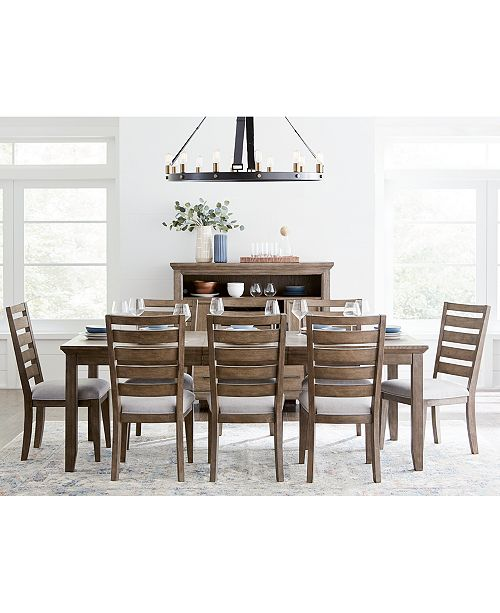 Furniture Mesa Dining Furniture, 9-Pc. Set (Expandable Table & 8 Side Chairs), Created For Macy