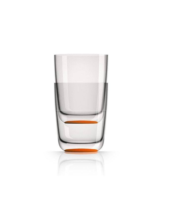 Marc Newson - Highball Tumbler with Orange non-slip base, Set of 2