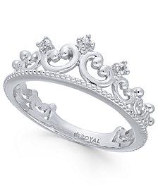 Diamond Tiara Ring (1/20 ct. t.w.) in 14k White Gold