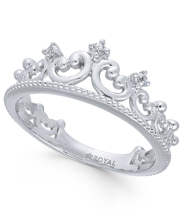 Macy's - Diamond Tiara Ring (1/20 ct. t.w.) in 14k White Gold