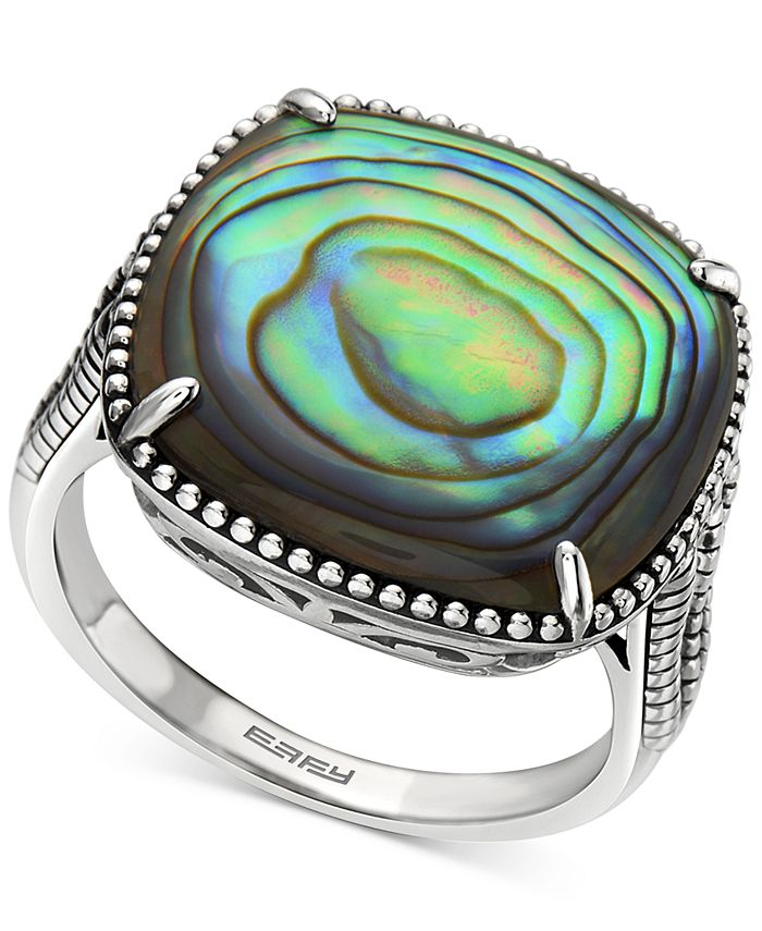 EFFY Collection - Abalone Cushion Statement Ring in Sterling Silver