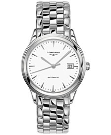 Longines Men's Swiss Automatic Flagship Stainless Steel Bracelet Watch 38mm