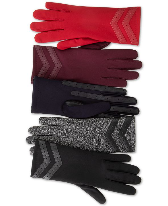 Isotoner Signature smartDRI® Chevron Stretch Touchscreen Gloves