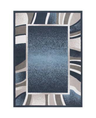 "Global Rug Design Loma LOM03 Blue 7'8"" x 10'7"" Area Rug"