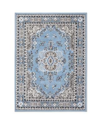"Global Rug Design Loma LOM01 Blue 7'8"" x 10'7"" Area Rug"