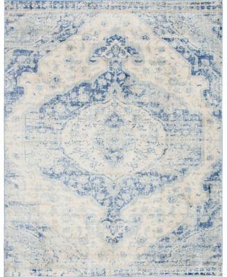 Agostina Ago2 Blue 4' x 6' Area Rug