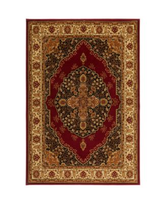 "Primacy PRI08 Red 5'2"" x 7'2"" Area Rug"
