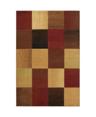"Yorba YOR02 Brown 7'10"" x 10'2"" Area Rug"