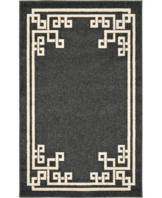 Anzu Anz3 Black 7' x 10' Area Rug