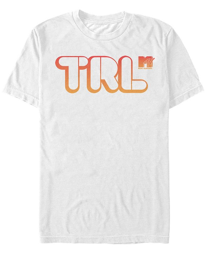 MTV Men's Orange Total Request Live Logo Short Sleeve T-Shirt