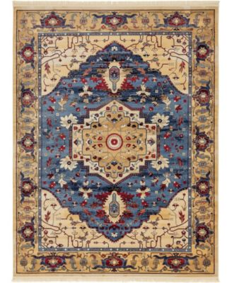 Borough Bor3 Blue 8' x 10' Area Rug