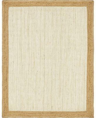 Braided Jute A Bja4 White 8' x 10' Area Rug