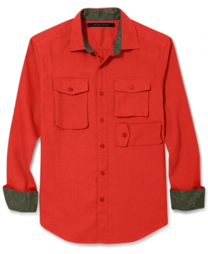 Sean John Shirt MultiPocket Linen Shirt