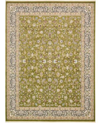 Zara Zar1 Green 3' x 13' Runner Area Rug