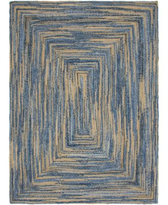 Roari Braided Chindi Rbc1 Blue/Natural 8' x 10' Area Rug