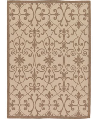Pashio Pas5 Brown 6' x 6' Square Area Rug