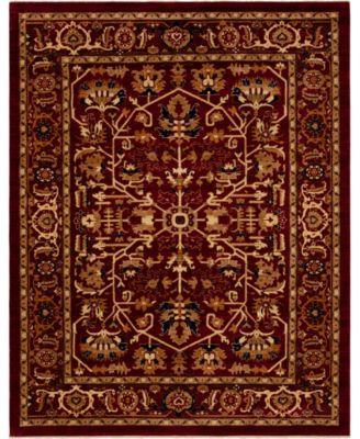 Thule Thu1 Burgundy 4' x 6' Area Rug