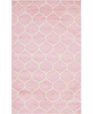 Plexity Plx2 Pink 5' x 8' Area Rug