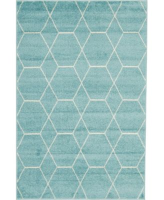 Plexity Plx1 Light Blue 4' x 6' Area Rug