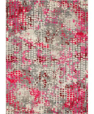 Crisanta Crs4 Pink 8' x 8' Round Area Rug