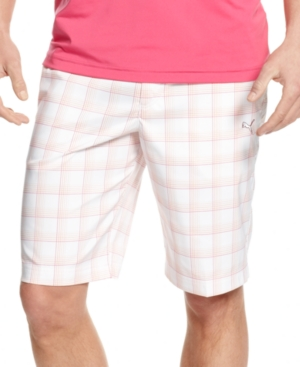 Puma Golf Shorts Plaid Tech Shorts