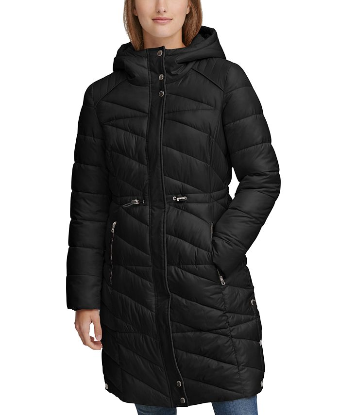 Andrew Marc - Drawstring Hooded Down Puffer Coat