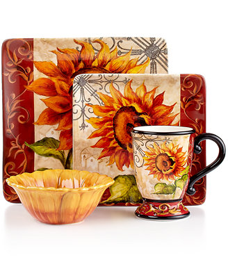 Certified International Dinnerware, Tuscan Sunflower Collection