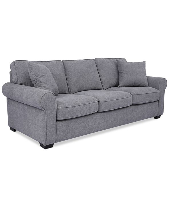 "Furniture Ladlow 90"" Fabric Sofa, Created for Macy's"