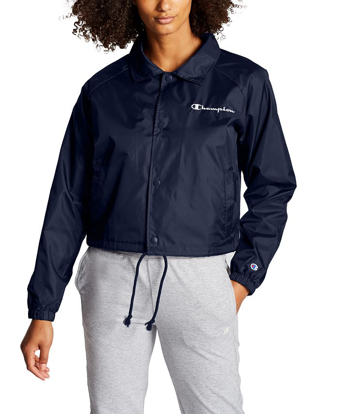 Champion - Heritage Water-Repellent Cropped Coach's Jacket