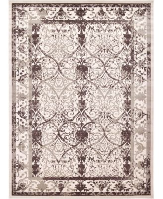 Aldrose Ald6 Brown 6' x 6' Round Area Rug