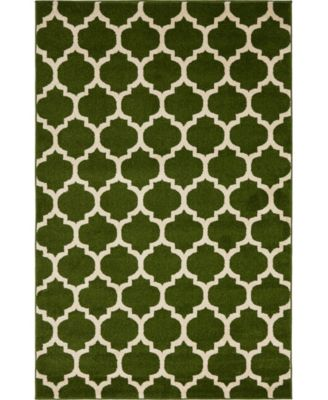 Arbor Arb1 Dark Green 7' x 10' Area Rug