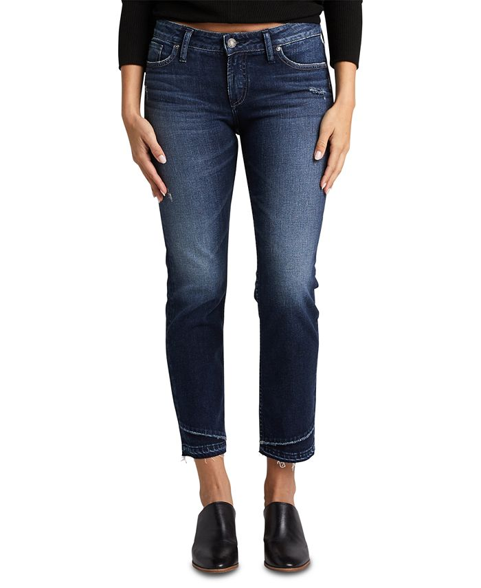 Silver Jeans Co. - Suki Lightly-Ripped Slim Jeans