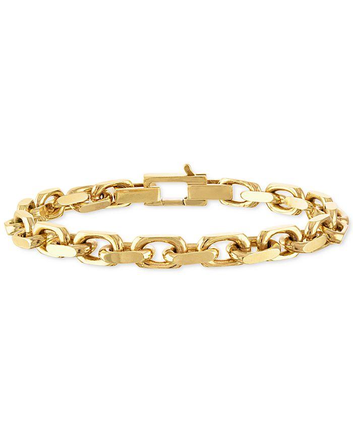 Esquire Men's Jewelry - Men's Cable Link Chain Bracelet