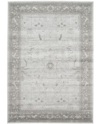 Aldrose Ald4 Light Gray 6' x 6' Square Area Rug