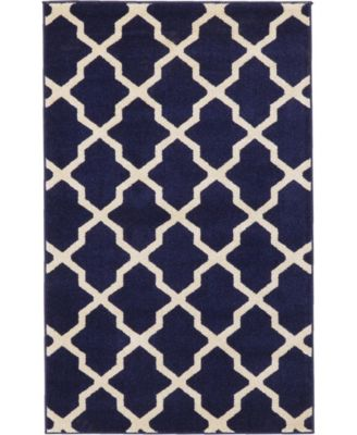 Arbor Arb2 Navy Blue 9' x 12' Area Rug