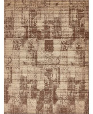 Jasia Jas07 Brown 9' x 12' Area Rug