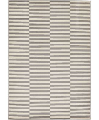 Axbridge Axb2 Gray 6' x 9' Area Rug