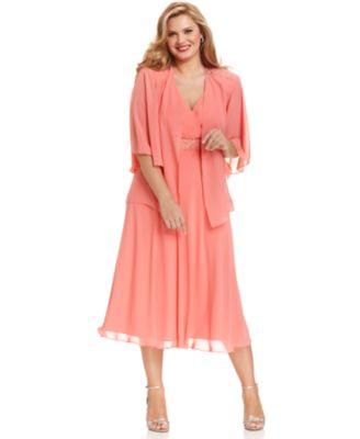 Plus Size Beaded Jacket Dress_Other dresses_dressesss