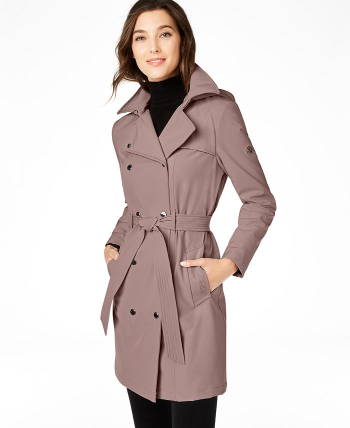 Calvin Klein - Hooded Double-Breasted Trench Coat