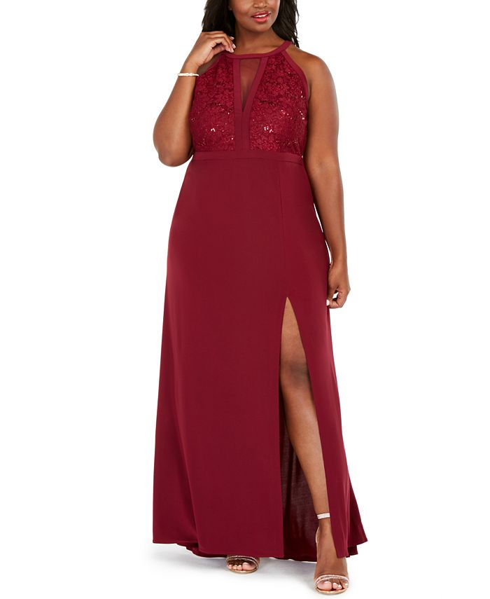 Morgan & Company - Trendy Plus Size Sequined-Bodice Gown