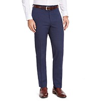 Deals on IZOD Mens Classic-Fit Medium Blue Suit Pants