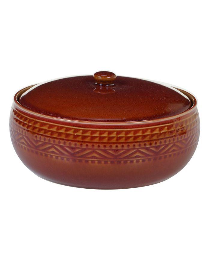 Certified International - Aztec Rust Bean Pot