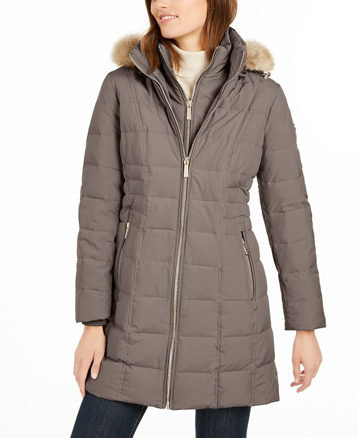 Michael Kors - Hooded Faux-Fur-Trim Puffer Coat