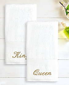 """Linum Home 100% Turkish Cotton """"King"""" and """"Queen"""" 2-Pc. Hand Towel Set"""