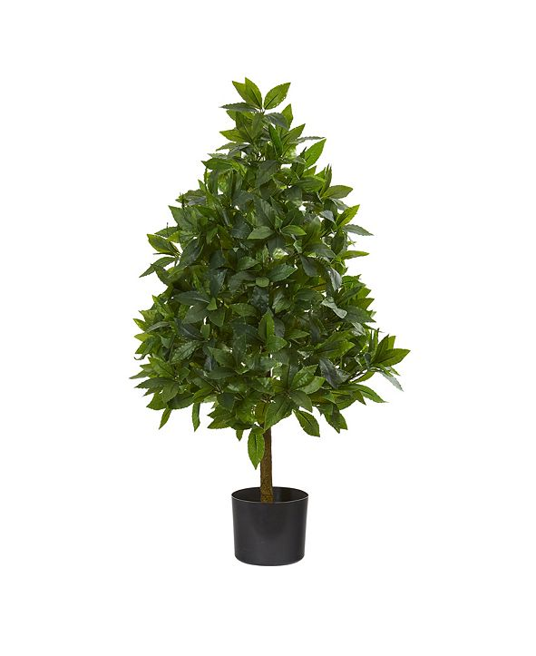 Nearly Natural 3' Sweet Bay Topiary Artificial Tree