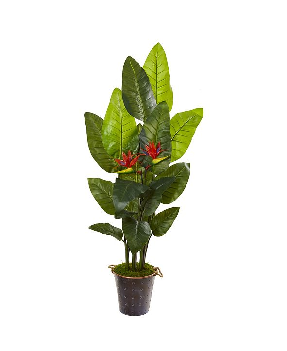 """Nearly Natural 75"""" Bird Of Paradise Artificial Plant in Planter Real Touch"""