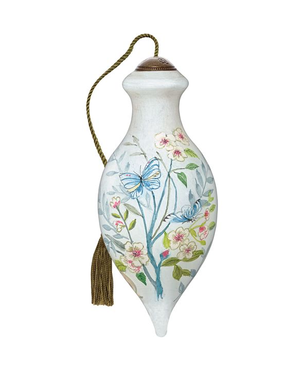 Ne'Qwa The NeQwa Art Blossoming Spring hand-painted blown glass Spring ornament