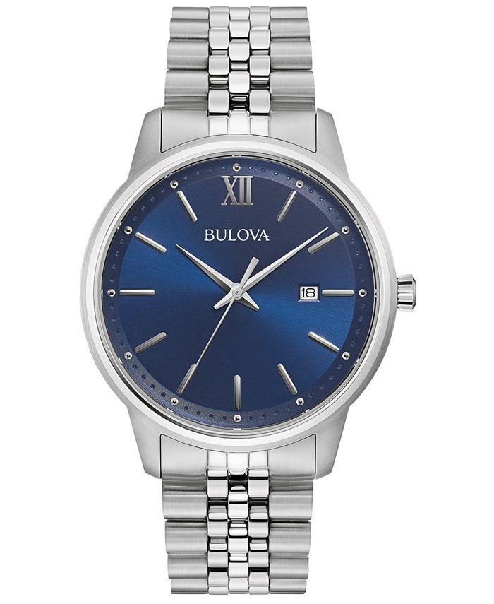 Bulova - Men's Classic Stainless Steel Bracelet Watch 41mm